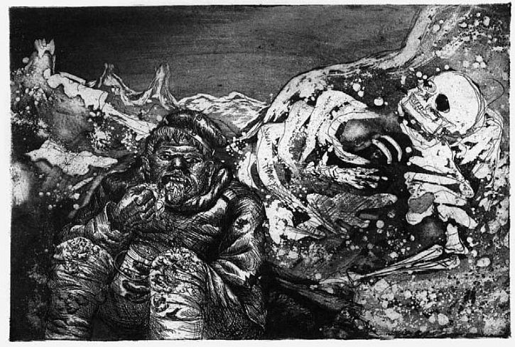 Otto Dix, 'Mealtime in the Trenches'