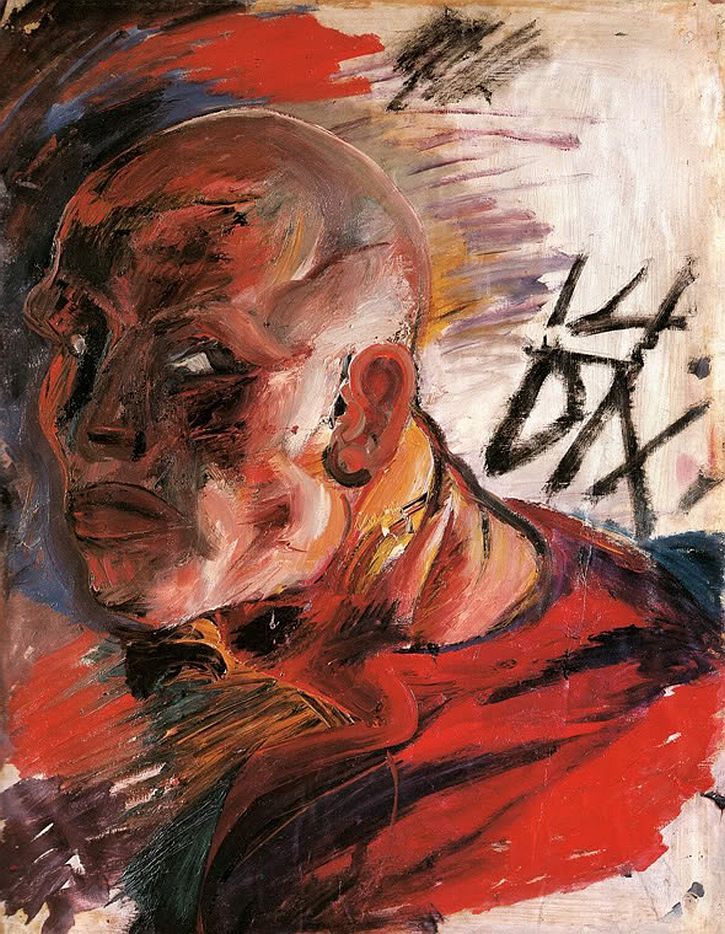 Otto Dix, Self-Portrait as a Soldier in a Red Shirt, 1914