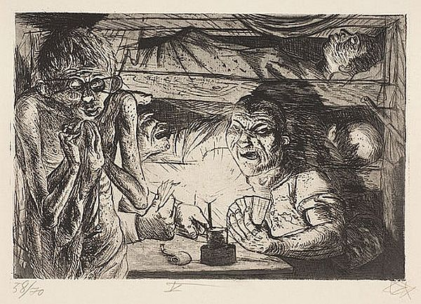 Otto Dix, 'Shelter in the Trenches'