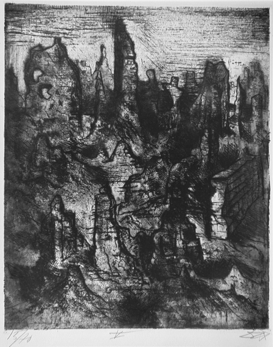 Otto Dix, 'The Ruins of Langemark