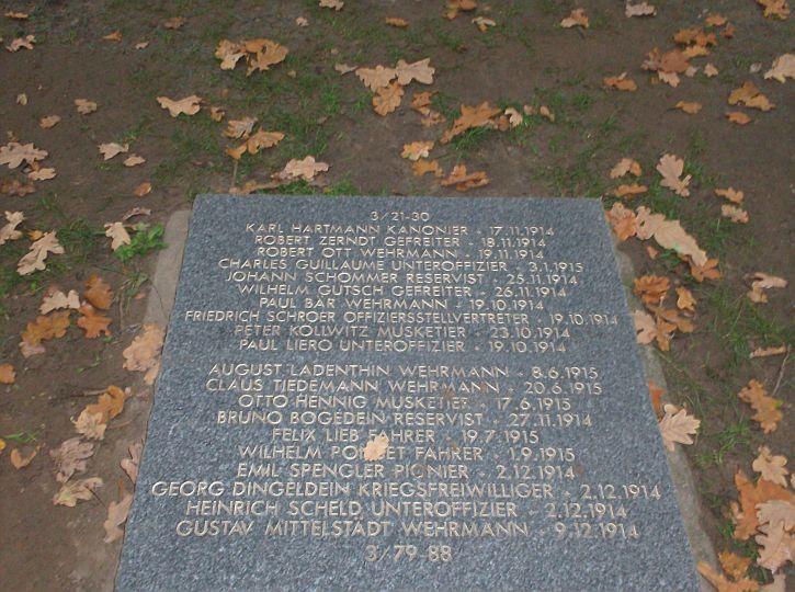 Peter Kollwitz burial stone