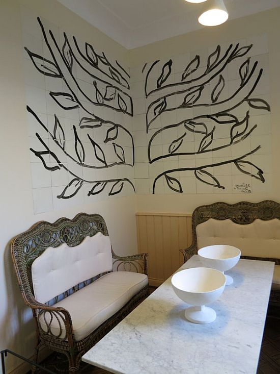 Reconstruction of the dining Tériade villa S-Jean-Cap-Ferrat, decorated by Henri Matisse, Tree 1952