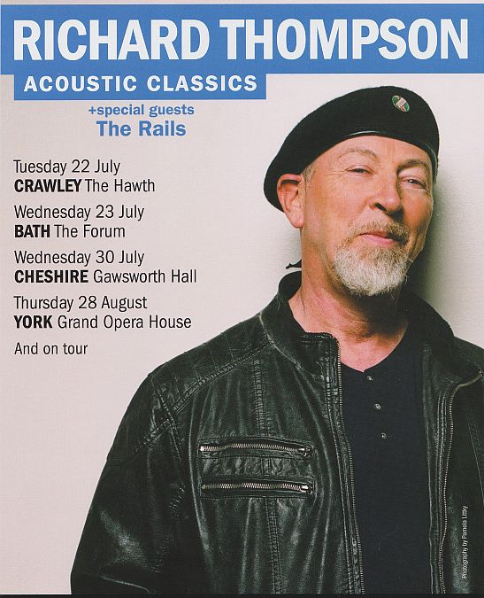 Richard Thompson tour poster
