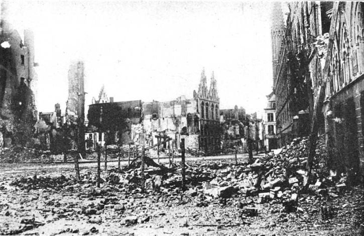 Ruins of Ypres Market Square, 1915