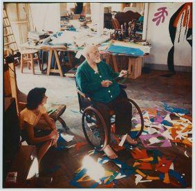 Henri Matisse in his studio photo by Lydia Delectorskaya