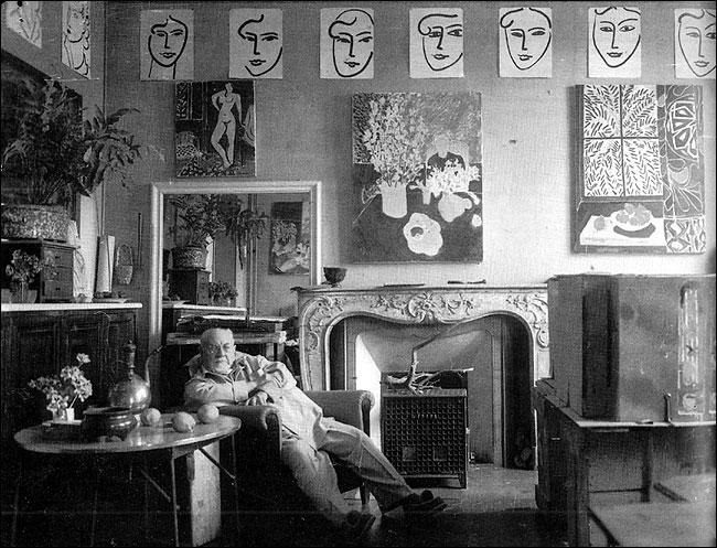 Matisse in his studio, Vence, May 1948