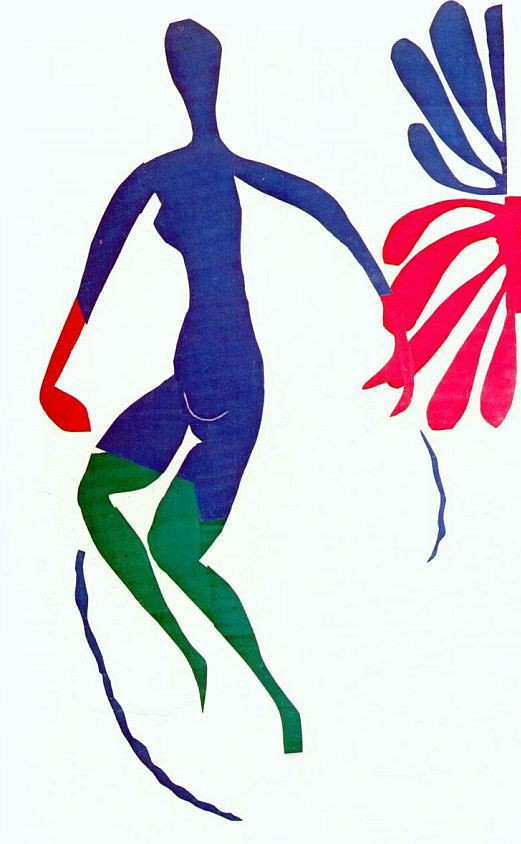 Matisse, Blue Nude with Green Stockings, 1952