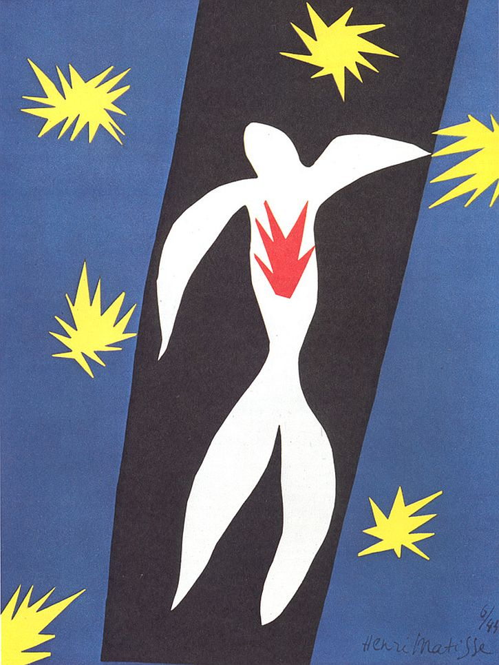 Matisse, cut-out version of Fall of Icarus