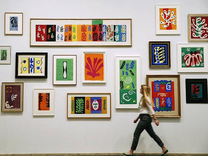 Matisse, Framed cut-outs from the Vence studio wall