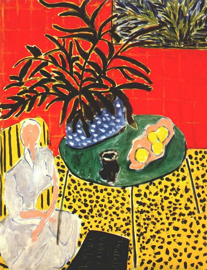 Matisse, Interior with Black Fern, 1948