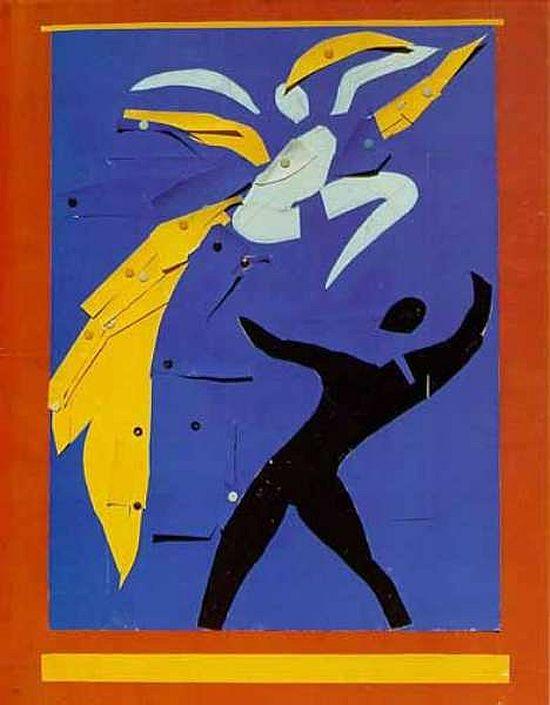 Matisse, paper cut-out designs for Rouge et Noir