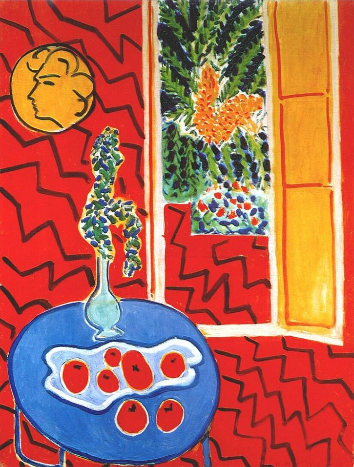 Matisse, Red Interior, Still Life on a Blue Table, 1947