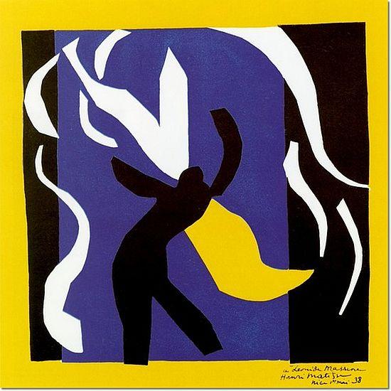 Matisse, stage curtain design for Rouge et Noir