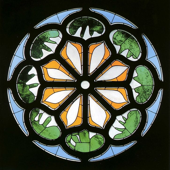 Matisse, stained glass window, Pocantico church, New York State