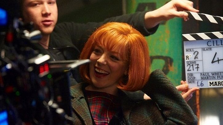 Sheridan Smith pictured filming Cilla in Liverpool. Credit ITV Granada