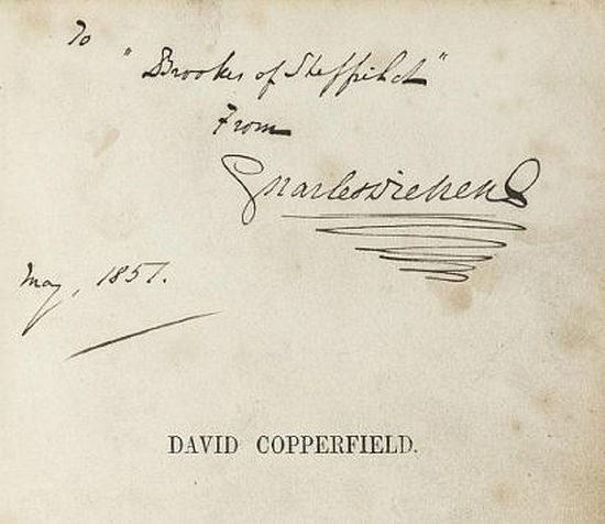 Dickens signed David Copperfield first edition