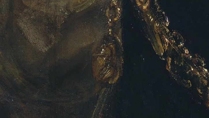 Rembrandt, Aristotle Contemplating the Bust of Homer, 1653 detail Alexander