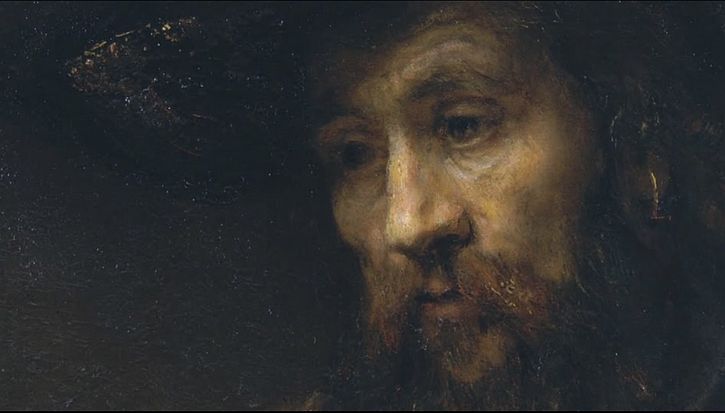 Rembrandt, Aristotle Contemplating the Bust of Homer, 1653 detail Aristotle