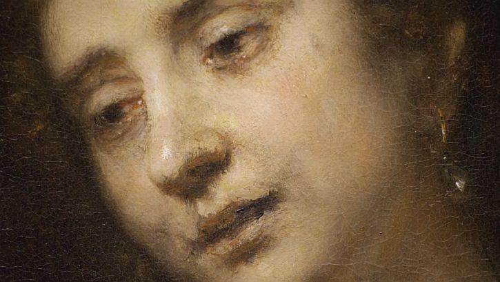 Rembrandt Lucretia 1664 detail eyes