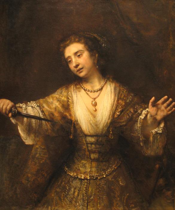 Rembrandt, Lucretia, 1664