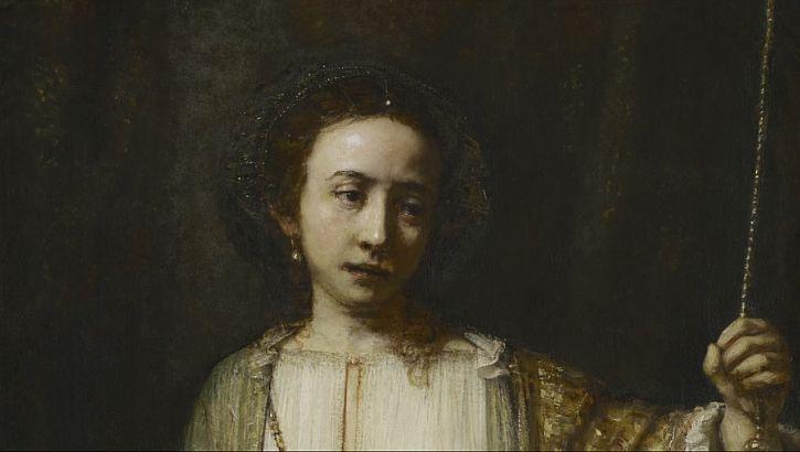 Rembrandt Lucretia 1666 detail