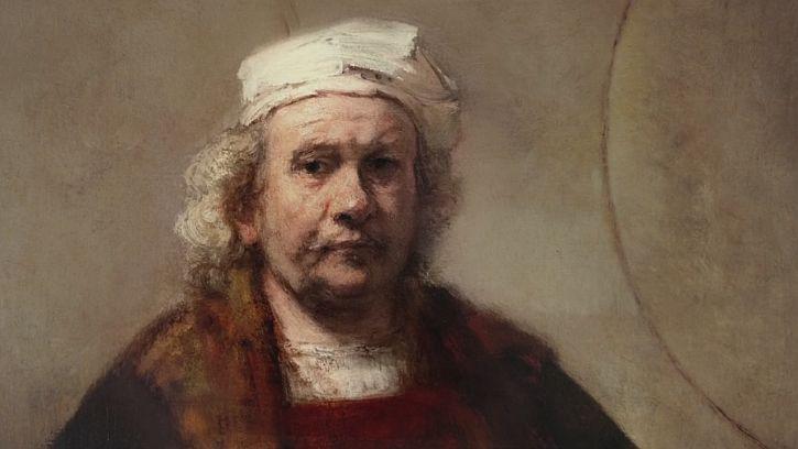 Rembrandt Self Portrait 1662 detail