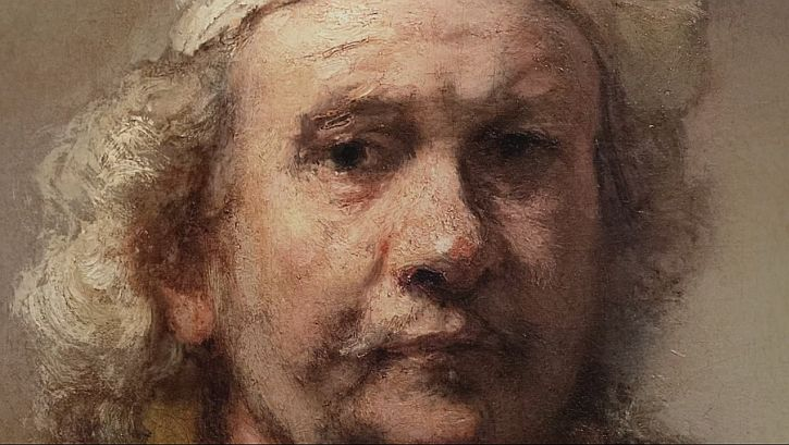 Rembrandt Self Portrait detail