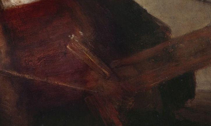 Rembrandt Self Prtrait 1665 detail hand