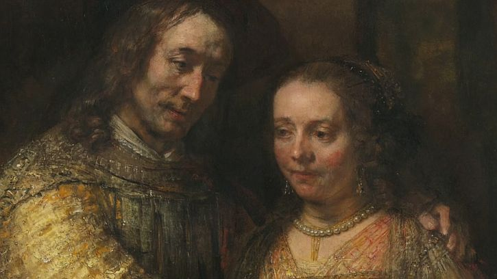 Rembrandt The Jewish Bride (detail 3)
