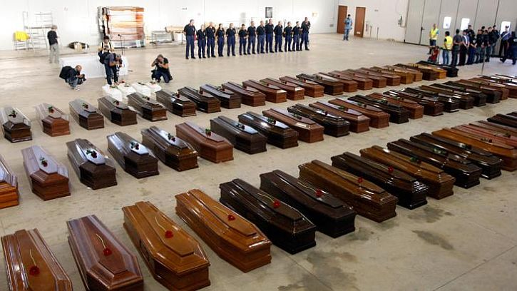 The dead from the Lampedusa tragedy