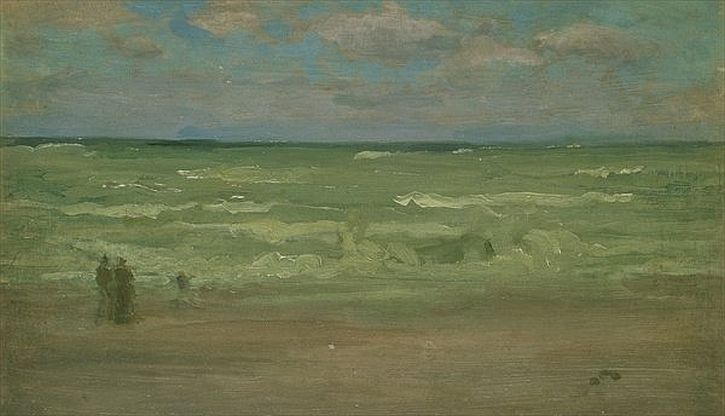 Whistler, Beach Scene with a Breakwater, 1899