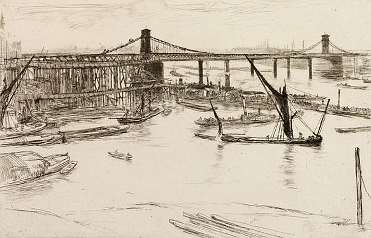 Whistler, Old Hungerford Bridge, 1861