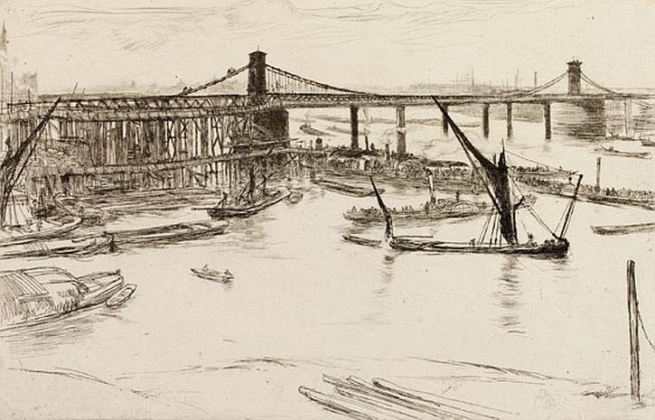 Whistler, Old Hungerford Bridge, 1861