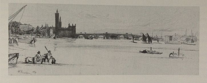 Whistler, Old Westminster Bridge, 1859