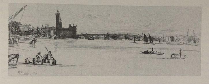 Whistler, Old Westminster Bridge, 1859