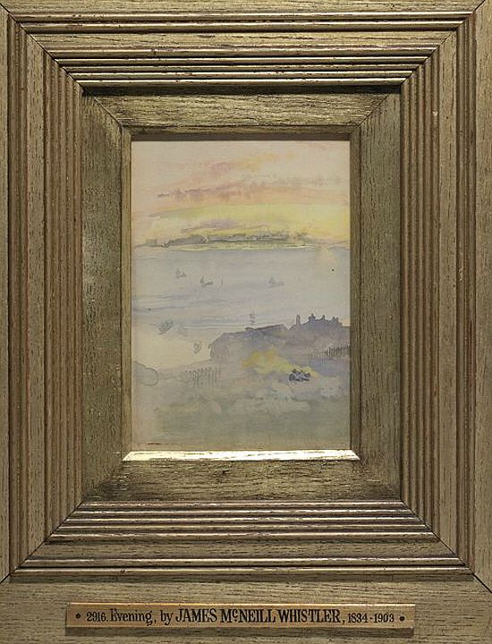 Whistler, Sunrise Gold and Grey, c1883, watercolour