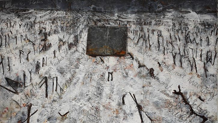 Anselm Kiefer, Black Flakes (Schwarze Flocken), 2006