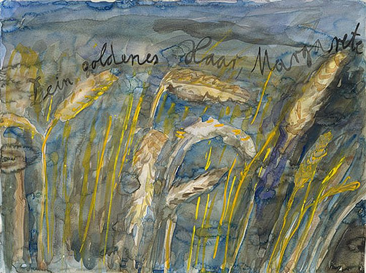 Anselm Kiefer, Your Golden Hair, Margarete, 1980 watercolour
