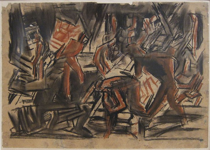 David Bomberg, Study for 'Sappers at Work A Canadian Tunnelling