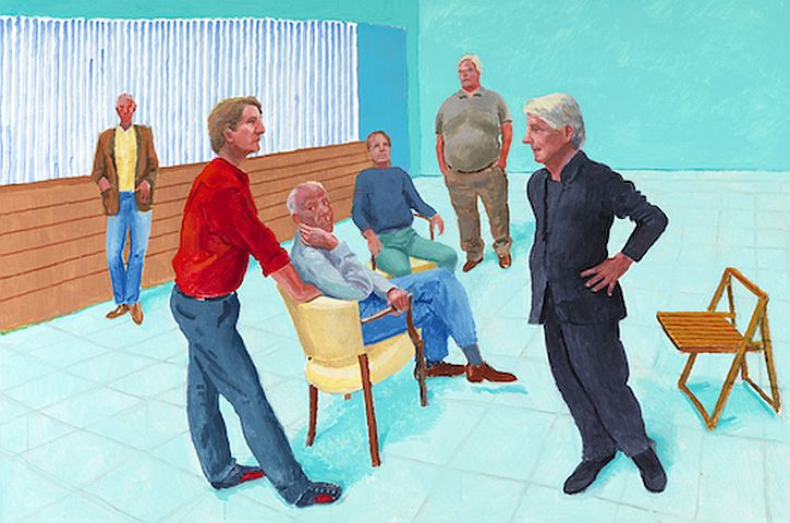 David Hockney, 'The Group XIII, 4-9 August, 2014