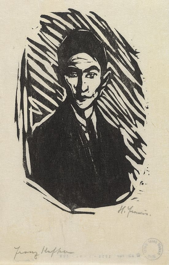 Franz Kafka by Hans Fronius. 1937 Woodcut