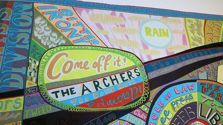 Grayson Perry, The Comfort Blanket detail 4