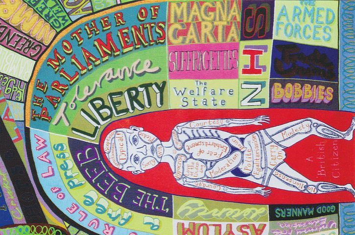 Grayson Perry Who Are You The comfort blanket detail 2