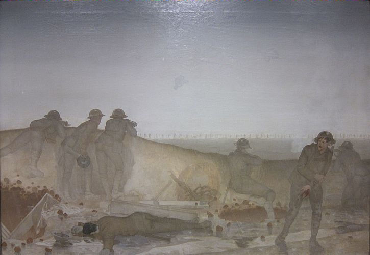 Harold Williamson, A German Attack on a Wet Morning, April 1918