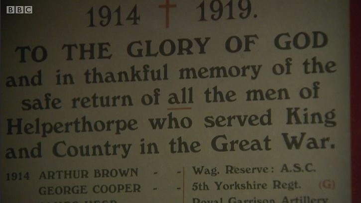 Thankful village: the Helperthorpe Roll of Honour