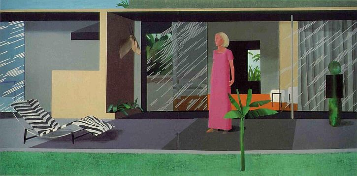 Hockney, Beverly Hills Housewife, 1966