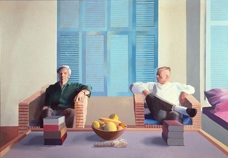 Hockney, Christopher Isherwood and Don Bachardy, 1968
