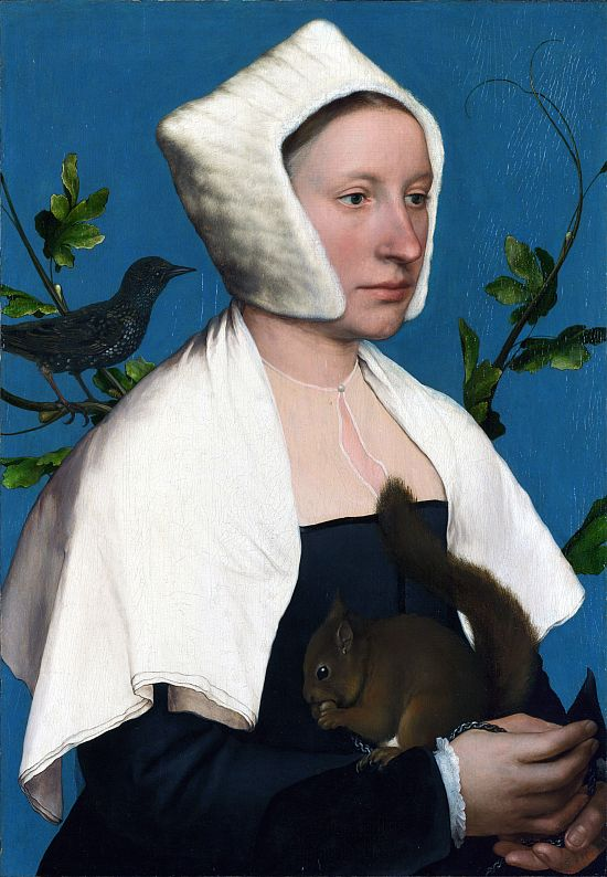 Holbein, Lady with Squirrel and Starling