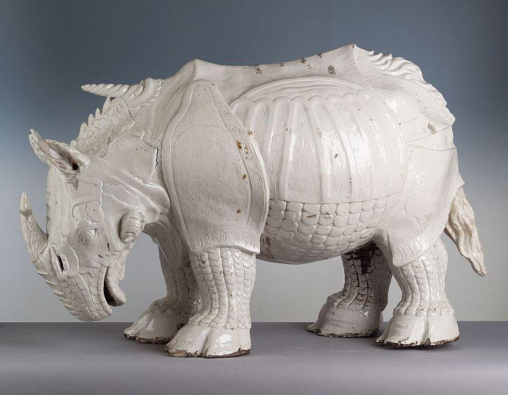 Johann Gottleib Kirchner, Meissen porcelain Rhino, 1730