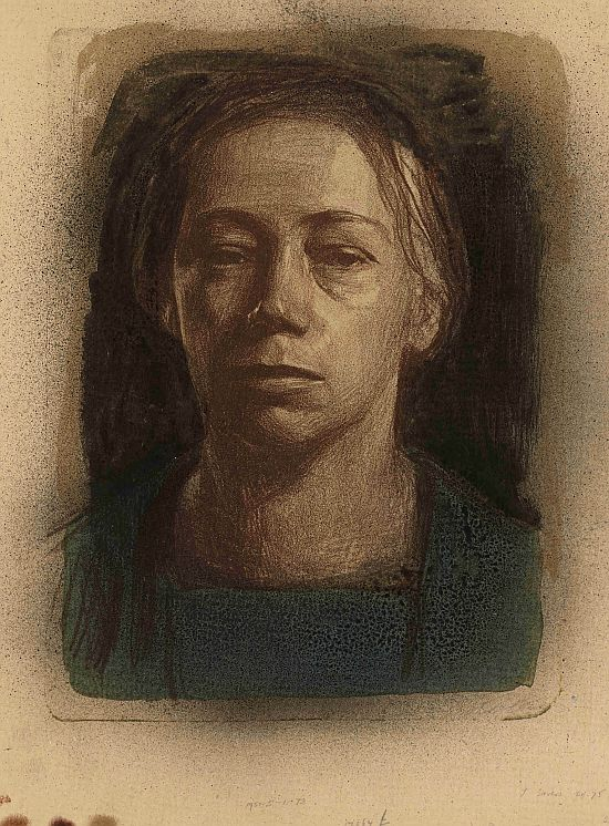 Kathe Kollwitz, Self-Portrait, 1904